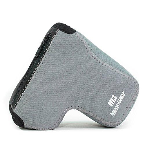 MegaGear - Ultra Ligero Cámara Funda de neopreno con mosquetón para Sony Alpha A6500, gris