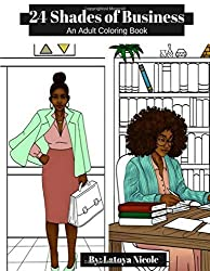 50 shades of business adult coloring book for women of color