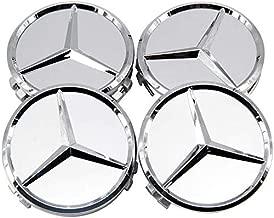 /Clase A B C E CLK GL M ML SLK/ A170/400/00/25/Azul Oscuro con Hoja de Laurel Plateado FORTEN CAR 4/X Llanta con el 75/mm Logo Mercedes/ /para Hombre EOM