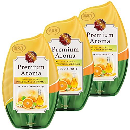 【まとめ買い】お部屋の消臭力 プレミアムアロマ 部屋用 スイートオレンジ&ベルガモットの香り 400ml×3個 玄関 リビング 寝室 ルームフレグランス 消臭 芳香剤