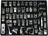 Stormshopping - Set di 52 piedini da cucito per macchina da cucire, per macchine da cucire Brother, Singer, piedino in teflon, Janome, AEG, Carina, W6