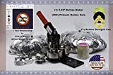 2.25' Button Maker Machine + 500 Complete Pinback Button Parts + Cds + Software from American Button Machines
