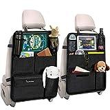 Tsumbay Auto Organizer, Auto Rückenlehnenschutz 2 Stück Wasserdicht Auto Rücksitz Organizer, Durchsichtigem Große Taschen und iPad-Tablet-Fach, Multifunktionale Auto Aufbewahrungstascheanizer,