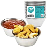 [24 Pack] 1.5 oz Stainless Steel Sauce Cups - Individual Round...
