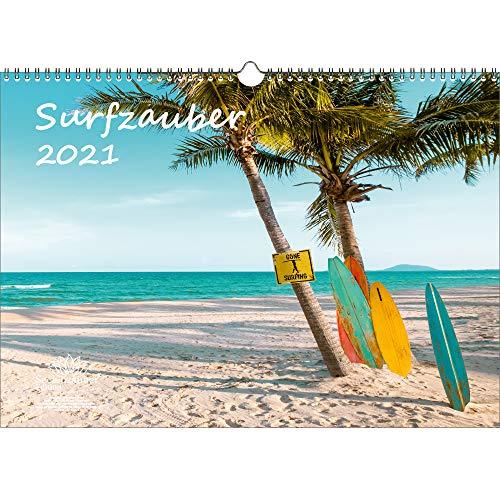 Surfzauber DIN A3 Kalender für 2021 Surfer und surfen - Seelenzauber