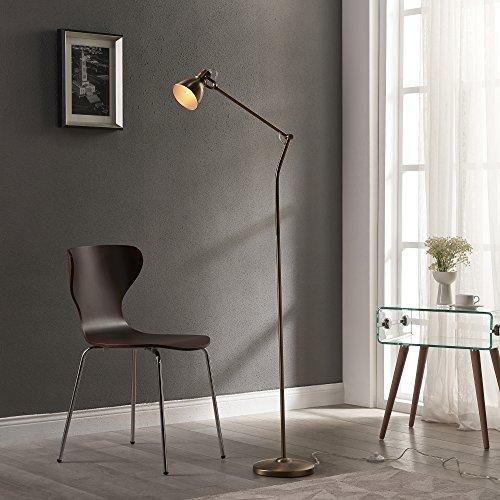 Versanora Passione Lámpara de Piso, 40 W, Dorado, 48x23x150cm