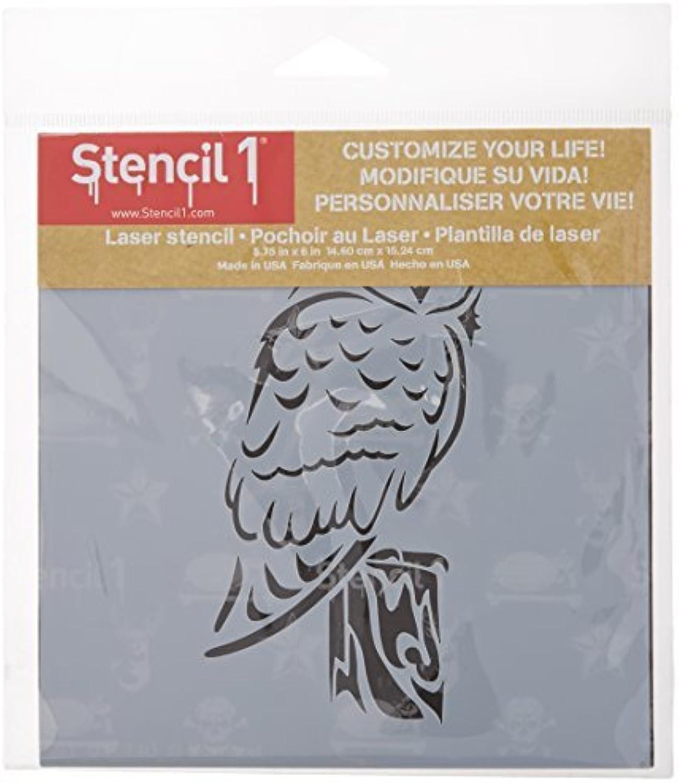 Stencil1 S1_01_140_S Barn Owl Stencil, 6 by 6, Weiß by by by Stencil 1 B01KB6WAAU     | Spezielle Funktion  b81b8b