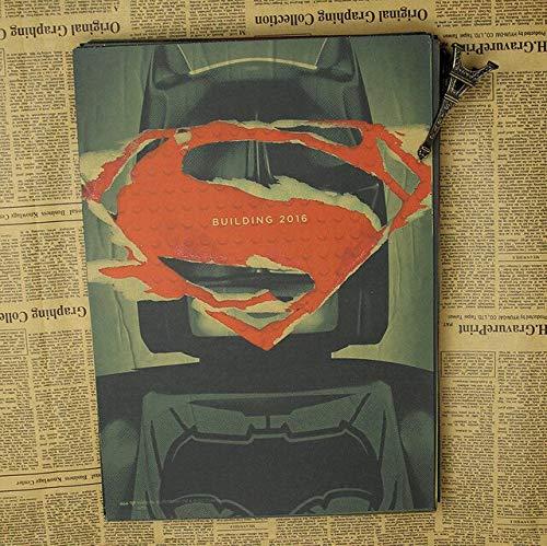 panggedeshoop Batman V Superman Retro Poster Bedroom Dormitory 40X50Cm -Sz1229