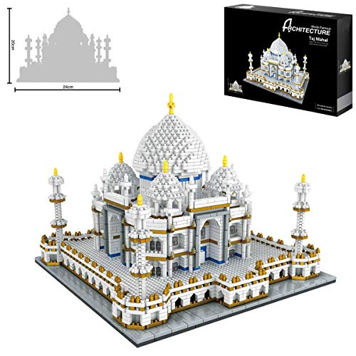 Taj Mahal World Famous Landmark 3900+pcs Nano Mini Blocs de Construction Kits Enfant Construction Bricolage Jouet Éducatif Cadeaux
