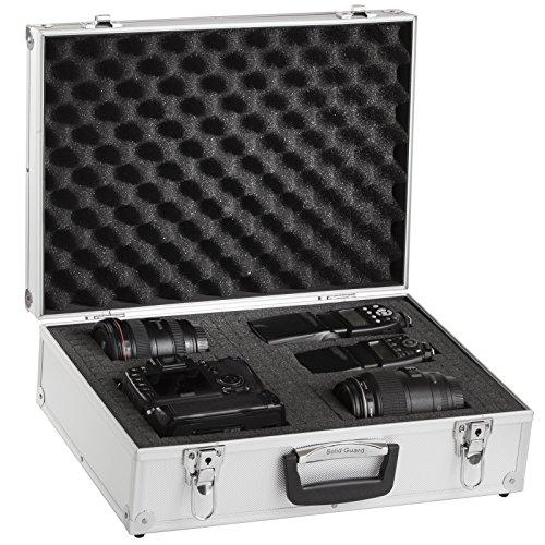 Brubaker Fotokoffer aus Aluminium - Alukoffer mit Schaumstoff für Kameras und Fotoequipment - 20 L - Silber - 46,5 x 34 x 15 cm