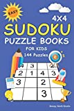 Easy Sudoku Puzzle Books For Kids: 100+ Sudoku Puzzles 4x4 Puzzle Grids with Very Easy, Easy & Medium - Mini Sudoku Books For Kids & Beginner (Sudoku For Kids)