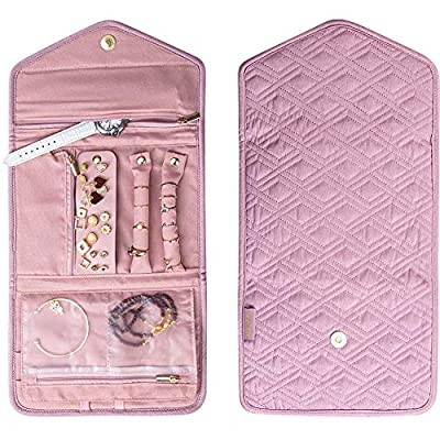 Amazon - Save 50%: Travel Jewelry Organizer, Roll Jewelry Bag for Necklace, Earrings, Rings,…