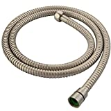 Flexible Shower Hose 59', Angle Simple Stainless Steel Handheld Shower Head Hose, Replacement Shower Sprayer Hose 1/2' IPS, Brushed Nickel