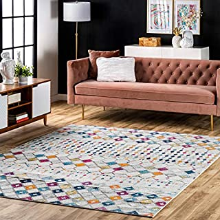 "nuLOOM Moroccan Blythe Area Rug, 6' 7"" x 9', Multi (B0792P6TQQ) 