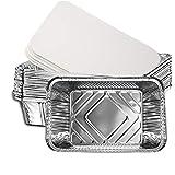 Petyoung Paquete de 20 Bandejas de Aluminio con Tapas Bandejas de Aluminio con...