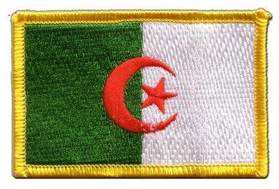 Aufnäher Patch Flagge Algerien - 8 x 6 cm