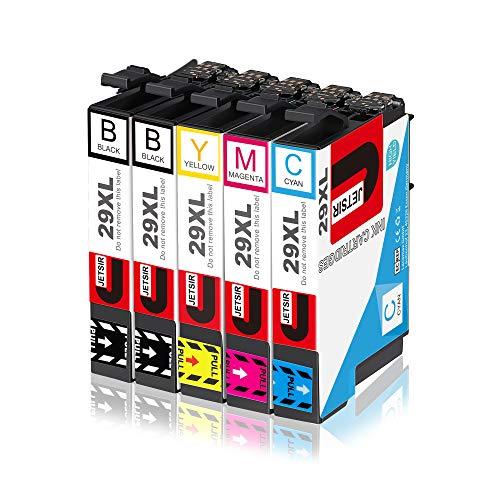 JETSIR Cartucce per stampanti per Epson 29XL, Expression Home XP-235 XP-245 XP-335 XP-342 XP-432 XP-442 XP-247 XP-330 XP-332 XP-345 XP-430 XP-435 XP-445 (2 Nero, blu, rosso, giallo)