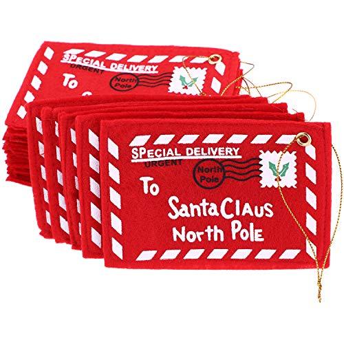 Sumind 20 Pezzi Buste di Natale a Babbo Natale Sacchetti di Caramella Porta Carta Moneta Regalo