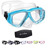 OMGear Swim Goggles with Nose Cover Diving Mask Snorkeling Gear Kids Adult Snorkel Mask Scuba Free Diving...