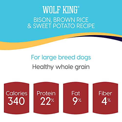 Solid Gold Wolf King Bison and Brown Rice Recipe with Sweet Potatoes