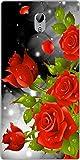 Shengshou Rose Design Mobile Back Cover for Lenovo ZUK Z1 - Red Green