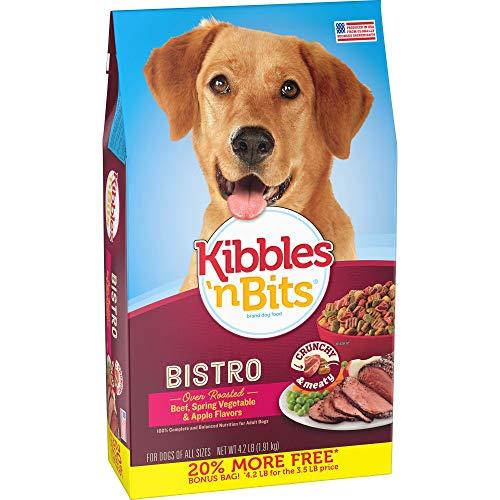 Kibbles  N Bits Bistro Oven Roasted Beef Flavor Bonus Bag Dry Dog Food  4.2 Lb