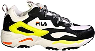 Fila Men's Ray Tracer Fashion Sneakers White/Black/Safety Yellow 10