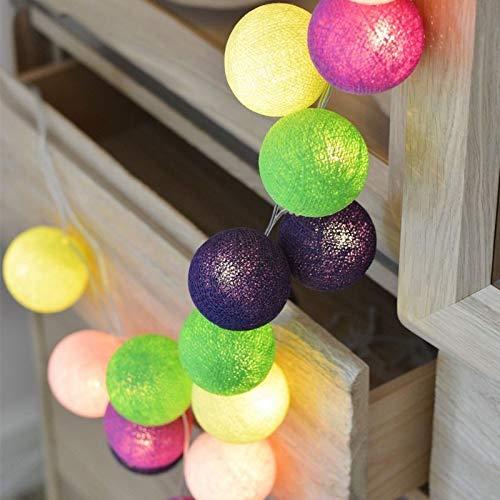 Baumwollfaden Kugel Led kleine Laterne String USB Dekoration Stern-Weihnachts Mädchen-Herz-Licht-Schnur (Color : D, Size : 3 Meters 20 Lights)