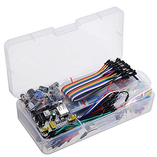 WNJ-TOOL, 1set Electronics Component Basic Starter Kit With Breadboard Cable Resistor Capacitor LED Potentiometer For Arduino