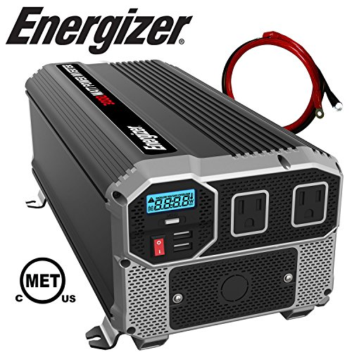 Energizer 3000 Watts Power Inverter 12V to 110V, Dual 110 Volt AC Outlets, Modified Sine...