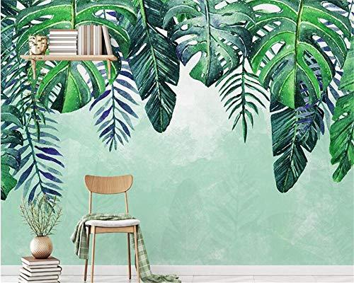 Papel pintado súper liso clásico nórdico minimalista pintado a mano fresco tropical...