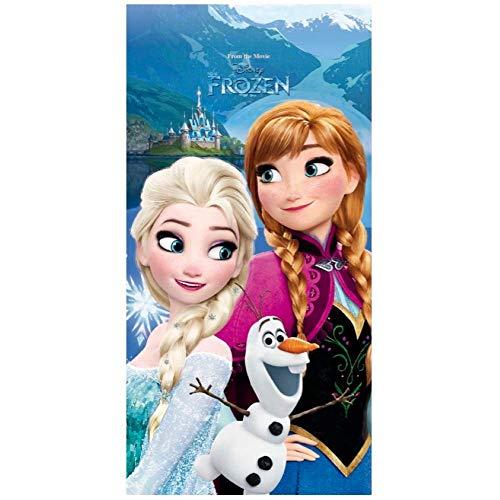 Generico Toalla de playa Frozen Disney Elsa Anna Olaf toalla de algodón 140 x 70 cm – 45032/1
