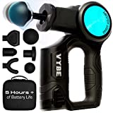 VYBE X Percussion Massage Gun for Athletes - Head, Back, Neck, Shoulders, & Leg Pain Relief - Deep Tissue, Hand Held Body Massager, Cordless