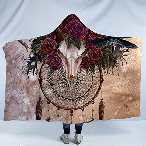 WWTZ Mystery Skull Dreamcatcher por SunimaArt Manta con Capucha Rosas