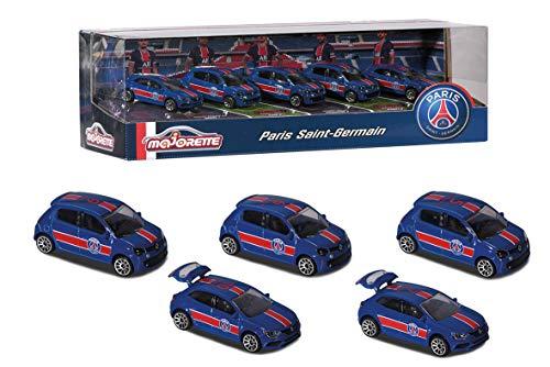 Majorette – PSG Giftpack – Miniaturautos aus Metall – Paris Saint-Germain – Set mit 5 Fahrzeugen – 212053175
