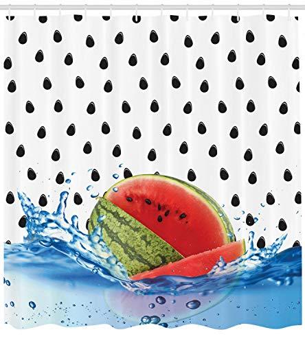 Wassermelone Duschvorhang Vegan Life Theme Print für Badezimmer