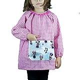 KLOTTZ MINNIE-PONCHO - Babi guardería sin botones con bolsillo de tela MINNIE de la marca Niñas color: FUCSIA talla: 4