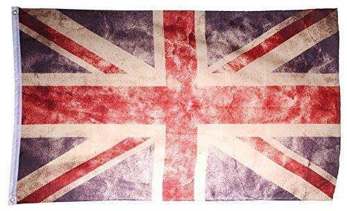 All world countries UK Flag Vintage Retro United Kingdom Flag 90 x 150cm Shabby Style