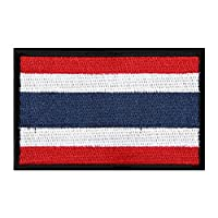 Catsobat 国旗ワッペン 国旗エンブレム 刺繍ワッペン 刺繍 腕章 星条旗 サバゲーミリタリーパッチ 8cm×5cm (タイ)