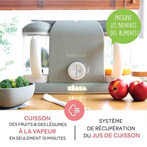 BÉABA, Babycook Duo Robot Bébé 4 en 1 Mixeur-Cuiseur, Cuisson Vapeur rapide 15min...
