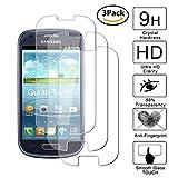 Guran [3-Unidades] Protector de Pantalla Vidrio Cristal Templado para Samsung Galaxy S3 Mini Smartphone Cristal Vidrio Templado Film (9H, 2.5D Edge, 0.3mm)