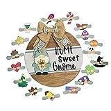 Cartello Home Sweet GNOME Cartello stagionale di Benvenuto, Intercambiabile Seasonal Front Door Sign Decor, per la Decorazione Domestica Cartello Sweet Home per Regali di inaugurazione