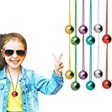 Multicolor Disco Ball 70s Disco Party for Halloween, Christmas, Home Decorations, Costumes, 1.5' inch (6-Pack)