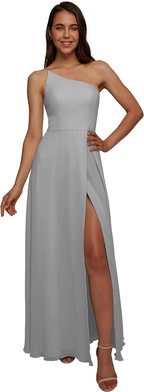 wholesale AW BRIDAL One Shoulder Chiffon Bridesmaid Plus Virginia Beach Mall Dresses Size Dove