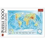 Trefl TR10463 Weltkarte 1000 Teile, Premium Quality, für Erwachsene und Kinder ab 12 Jahren Puzzle,...