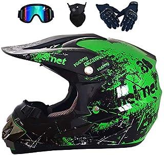Moto Caschi Moto Cross UFO Mask Set con Occhiali Guanti Caschi Moto off-Road Sport Enduro Downhill MTB BMX ATV del Casco NNYY Motocross Casco