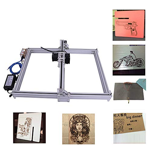 DIY CNC Engraver Kits Wood Carving Engraving Cutting Machine Desktop Printer Logo Picture Marking, 40x50cm,2 Axis (500MW)