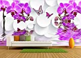 YOOMAY Kundenspezifische Fototapeten-Magnolienblüten öffnen Wandgemälde der Tapeten-3D für Wohnzimmermode Fernsehhintergrundwand, 400x280 cm (157.5 by 110.2 in)