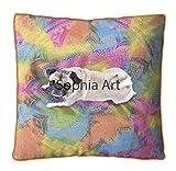 Múltiples tipos de tinte Ombre almohada de suelo grande, funda de cojín de tamaño grande Mandala de estar, decoración de perro, gato, cama otomana, yoga, meditación interior al aire libre (multi)