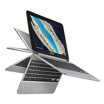 "ASUS Chromebook Flip C101 2-In-1 Laptop- 10.1"" 4-Way WXGA Touchscreen Rockchip RK3399 Quad-Core Processor 4GB RAM 16GB Storage All Metal Body Lightweight USB Type-C Chrome OS- C101PA-DB02"